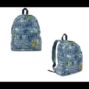 Brand New Zumba Denim Jeans Backpack Bag